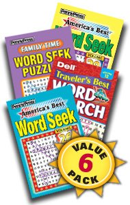 Best Word Seek Puzzles-6 Pack (Word Search Puzzles Magazine)