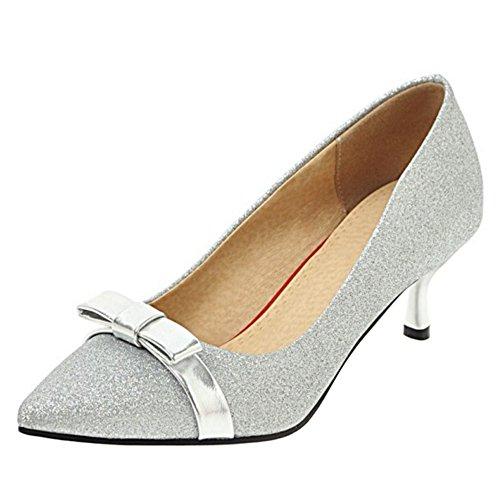 Heel Chaussures Kitten silver RAZAMAZA Femmes 6gEZ7qxgw