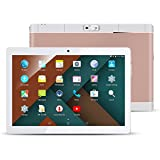 10.1' Inch Android Tablet PC, QIMAOO 2GB RAM 32GB Storage Phablet Tablet Quad Core Unlocked 3G Cell Phone Tablets, Dual Camera Sim Card Slots, Wifi, GPS, Bluetooth 4.0,1280x800 HD IPS Screen Display, Google Play (Rose-Gold)