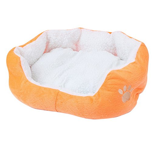 URIJK Dog Round Sherpa Bed - Deep Dish Cuddler with Removabl