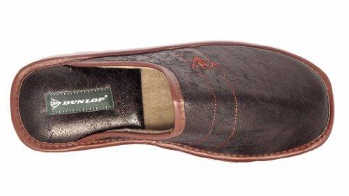 Zapatos estilo pantufla, para hombre, piel sintética negro