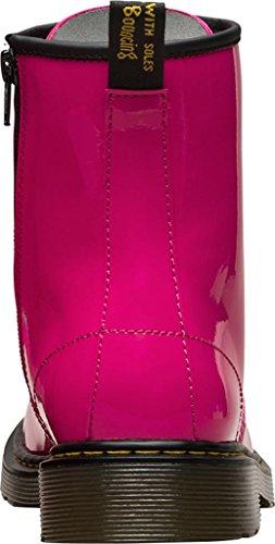 Dr. Martens Unisex-Kinder 1460 Y Klassische Stiefel, Schwarz Pink (Hot Pink 670)