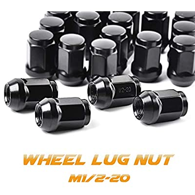 1/2-20 Lug Nuts for 1987-2020 Jeep Wrangler JK, 2002-2012 Jeep Liberty, 1993-2010 Jeep Grand Cherokee Aftermarket Wheel - MIKKUPPA 20pcs Black Closed End Lug Nuts: Industrial & Scientific