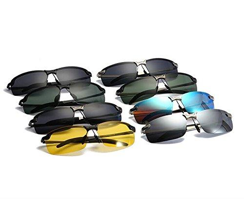 Lunettes avec Conduite Ultra UV Protection en Soleil Jaune pour Lunettes Métal Polarisées de Léger Noir 2 Cadre Mode Tukistore de Sport Soleil Hommes Hommes Mat 5xYZ4nqH