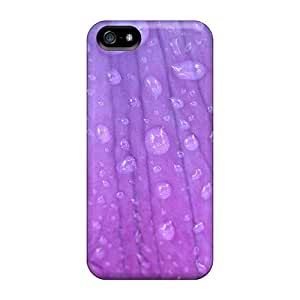 Defender Case With Nice Appearance (lavender Droplets) For Iphone 5/5s by lolosakes