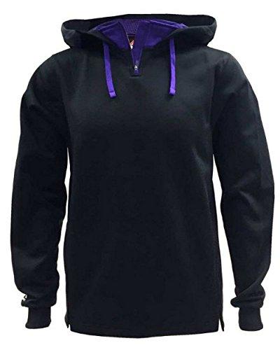 Mens Therma Base Fleece Pullover - Majestic Athletic Majestic Mens Therma Base Hooded Fleece Pullovers Black...