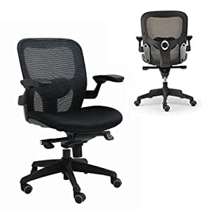 Euromof silla ergonomica de malla con soporte lumbar for Silla ergonomica amazon