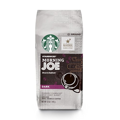 Starbucks Morning Joe Gold Coast Sinister Roast Ground Coffee, 12-Ounce Bag (Pack of 6)