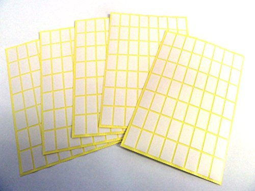 Minilabel White Paper Stickers, 15X8mm Rectangle, 280 Labels, Economy Pack