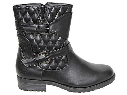 Botas estilo 308 Footwear Black mujer motero Foster qvU55