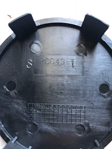 TSW Wheels PCC43-T Matte Black Snap in Center Cap 5x120 5x120.65 CCPCC43-T