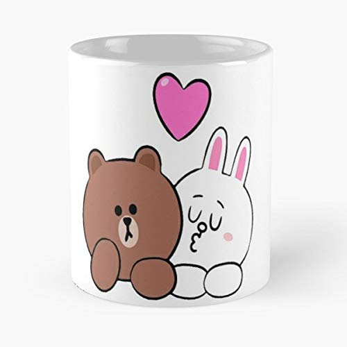 Brown Bear And Cony Rabbit 11 Ounces Funny Coffee Mug Gag Gift.the Best Gift For Holidays.
