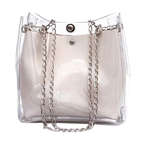 Transparent Bucket Bags, ✔ Hypothesis_X ☎ Women Chain Shoulder Bag Purse Totes Compound Female Mini Bag ()