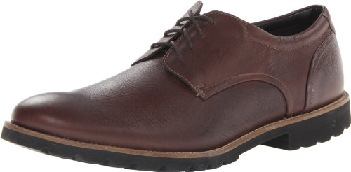 Rockport Mens Colben Plain Toe Oxford Chocolate Brown 12 M  D