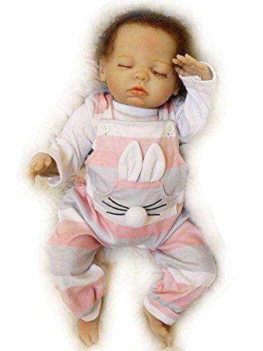 Reborn Baby Dolls Girls Silicone Newborn Eyes Closed Sleepin