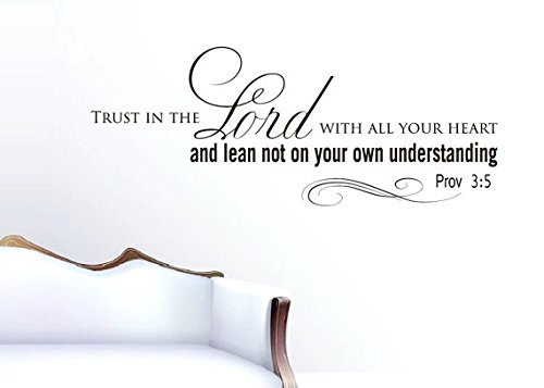 Vinyl Wall Decals Quotes Sticker Home Decor Art Mural Bible Verse Psalm Proverbs Trust in the Lord with all your heart Z255
