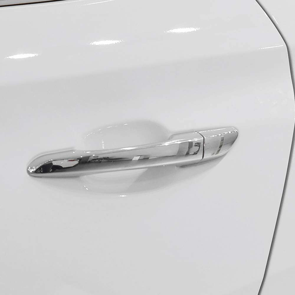 8pcs ABS Carbon Fiber Car Door Handle Cover Trim For Hyundai Tucson 2016-2019