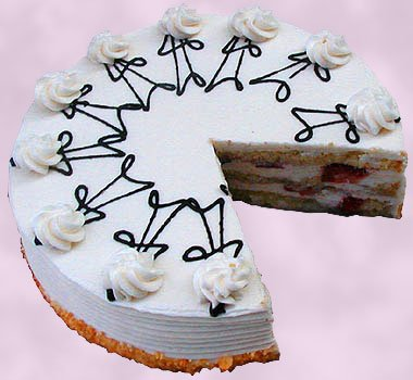 Gourmet Strawberry Grand Marnier Cake w/Buttercream Frosting