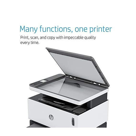 HP Neverstop 1200a Laser Printer, Print, Copy, Scan, Mess Free Reloading, Save Upto 80% on Genuine Toner, 5X Print Yield