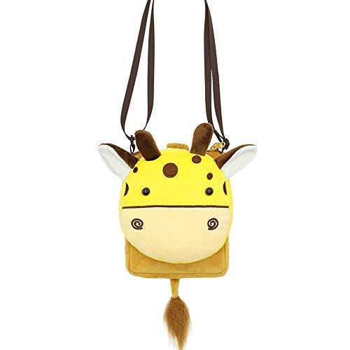 XLXWJJILY Bello Borse a spalla Borsa a tracolla felpa cartone animato giraffa Borse a mano per principessa e ragazze