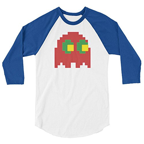 Retro 8-Bit Gucci Pacman Ghost Art Fashion Style Unisex 3/4 sleeve raglan - Cyber Sale Monday Gucci
