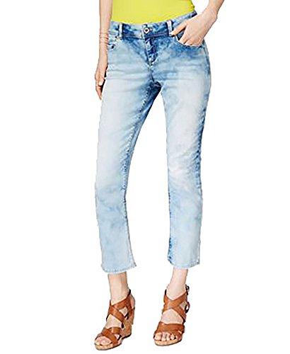INC International Concepts Cropped Straight-Leg Jeans (Indigo, 16) (Straight Skinny Jeans Sleek)