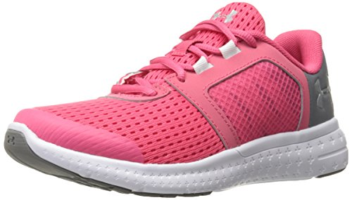 Under Armour Girls' Pre-School Micro G Fuel Running Shoes, Gala/White, 3 M US Little Kid