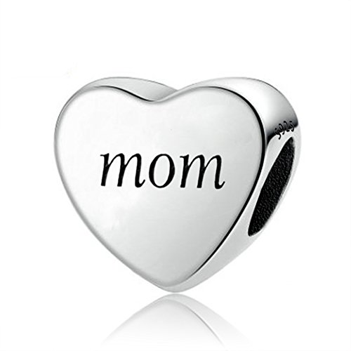 AMATOLOVE Mom Charm You Raise Me Up 925 Sterling Silver Charms Bead fit Bracelets Jewelry