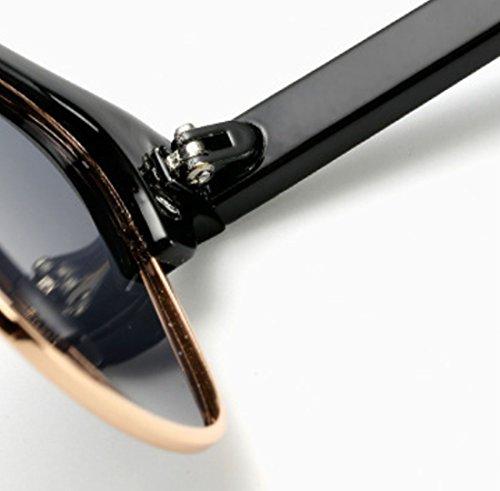 UV400 Brown Sol Metal Polarizadas Retro Plástico Hombre TAC Trend De Gafas Red QQBL Lady nRSOf