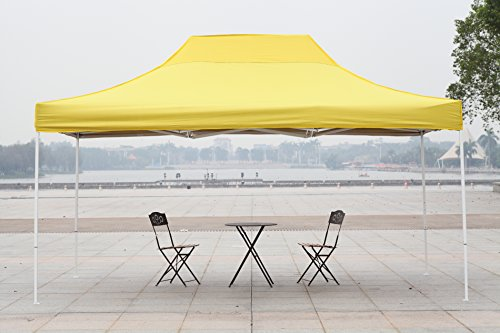 American Phoenix 10×10 10×15 10×20 [White Frame] Portable Event Canopy Tent, Canopy Tent, Party Tent Gazebo Canopy Commercial Fair Shelter Car Shelter Wedding Party Easy Pop Up (Yellow, 10×15)