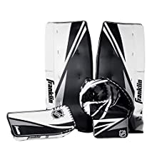 Franklin Sports Street Hockey Goalie Equipment Set - NHL Youth Street Hockey Goalie Pads - Leg Pads, Catch Glove, and Blocker - Youth Goalie Gear