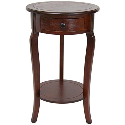 Oriental Möbel 26Classic Rund Ende Tisch mit Schublade Cherry