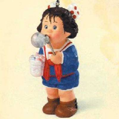 Happy Bubble Blower Christmas Ornament - 1998 Hallmark Keepsake Series QE08437