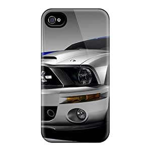Premium Durable Mustang Fashion Tpu Iphone 4/4s Protective Case Cover
