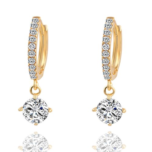 Mr.Macy Earrings For Women,1 Pair Crystal Rhinestone Round-shaped Ear Stud Earrings Gold Hooppearl Earrings Pearl Tassel Earrings beach ear rings (A)