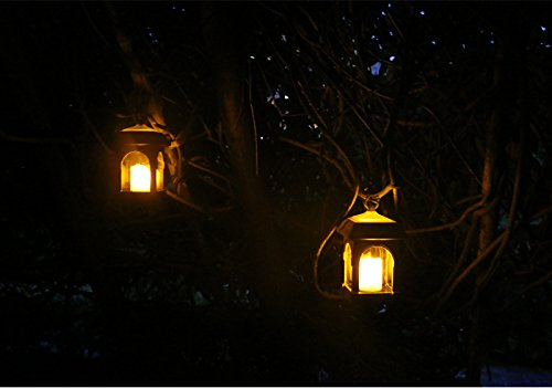 LED Solar Lantern Lights Hanging Lamp Outdoor Solar Candle Light Metal Waterproof for for Home Decoration, Festival Celebrations, Such as Christmas, Wedding, Party and so on. (Color : Bronze)