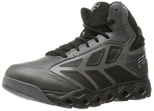 Fila Men's Torranado Basketball Shoe, Castlerock/Black/Metallic Silver, 9.5 M US