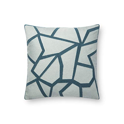 (Now House by Jonathan Adler Chain Stitch Fractal Pillow, Tonal Teal)