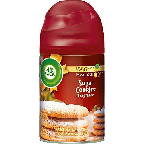 (Air Wick Holiday Freshmatic Automatic Spray, Sugar Cookies, 6.17oz, Air Freshener)