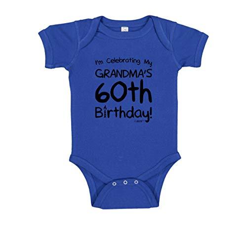60th Bday Gifts Birthday for Baby Celebrating My Grandma's 60th Birthday Bodysuit 12 Months Royal