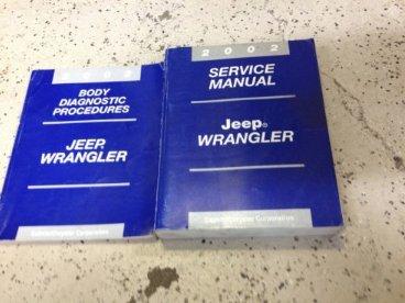 2002 JEEP WRANGLER Service Shop Repair Workshop
