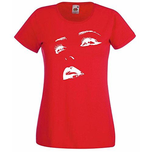 Chaudes Hasard Au Décalque Super Ados Of Loom T Rouge Sexy Design Lèvres shirt Silhouette Chemise Femmes Face Premium Fruit Avec The Gratuit Cadeau Yeux RXRSFH