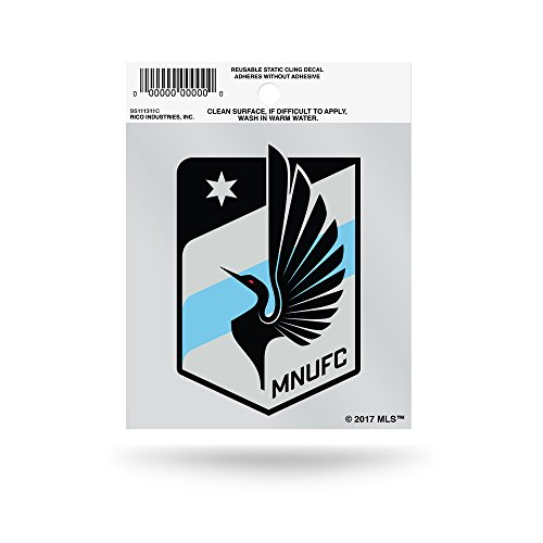 fan products of MLS Minnesota United FC Small Static Cling, Blue, 4.5-inch by 3.5-inch