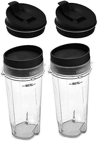 Nrpfell 16Oz Blender Cup Set for Ninja