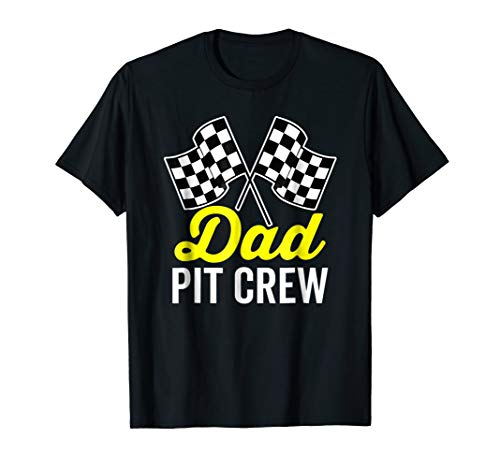 Dad Pit Crew Shirt for Racing Party Costume (Dark)