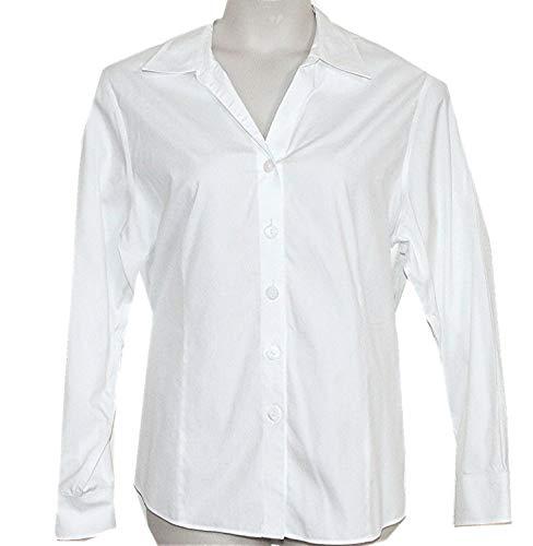 (Coldwater Creek No Iron Long Sleeve Blouse/Shirt (White, 2X (20W-22W)))