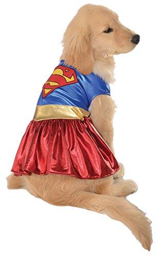 UHC Supergirl Dc Comics Superhero Fancy Dress Halloween Pet Dog Costume, XL (Supergirl Dog Costume)