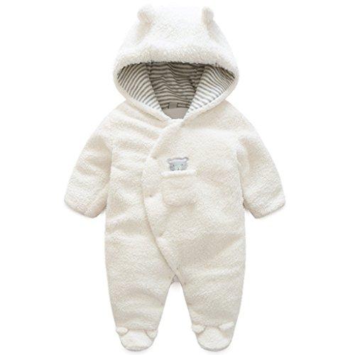 c7a6c4b35 Vine Traje de Nieve Bebé Ropa de Invierno FOOTED Peleles Mameluco con  Capucha Cálido Monos para Niños Niñas