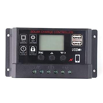 FinukGo Controlador de Cargador Solar portátil con Panel ...