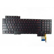 New US Black Backlit Keyboard (without frame) For Asus ROG G752 G752VT G752VL G752VY G752VT-DH72 G752VS G752VM G752VS-XB72K G752VS-XB78K G752VS-RB71 Light Backlight